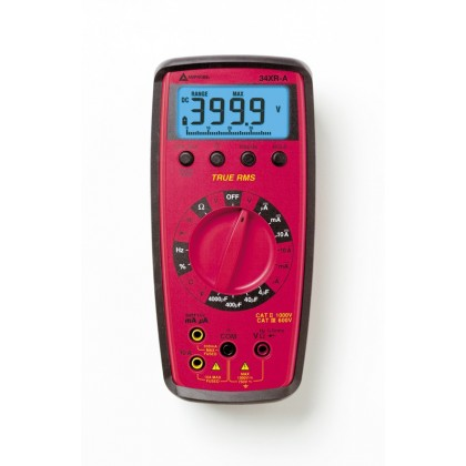 34 XR A - Multimètre TRMS professionnel avec mesure de la température et éclairage de l'affichage - Amprobe