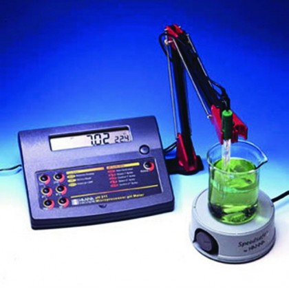 PH211R - phmètre pH/°C/redox + sortie analogique 0 à 5V - HANNA