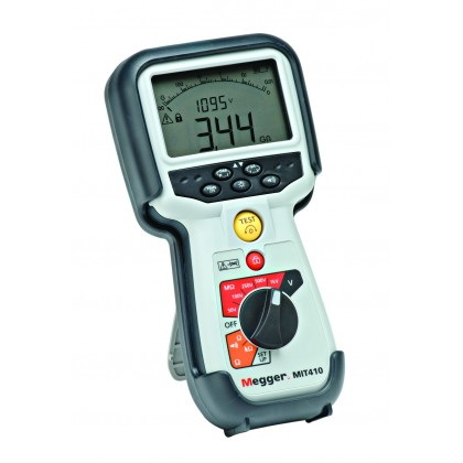 MIT415 - Insulation Tester and Continuity - 10/25/50/100/250/500V-fréq-Volt TRMS - MEGGERMIT415 - Insulation Tester and Continu
