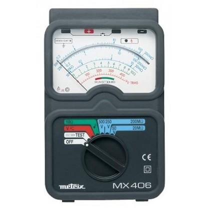 MX406B - Megohmètre analogique 50-250-500Vdc avec commande par sonde déportée - METRIX