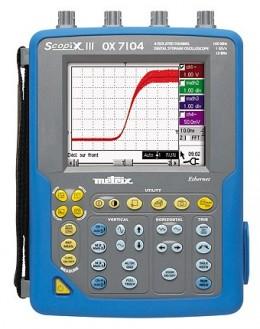 OX7104BCK - Oscilloscope numérique 4x100Mhz 2,5Géch/s écran couleur, ethernet + logiciel + valise - METRIX