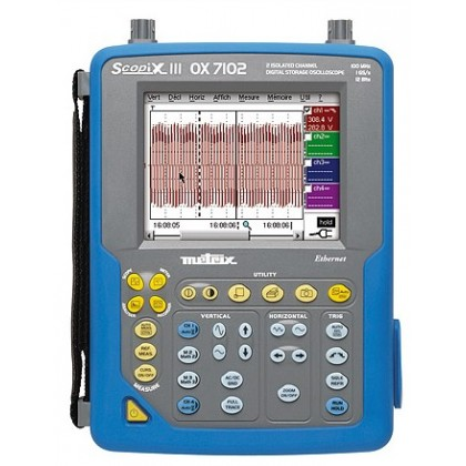 OX7202CSD - Oscilloscope portable 2x200Mhz écran couleur, ethernet - METRIX