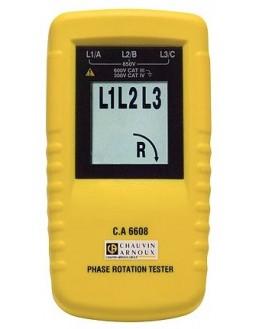 Testeur de rotation de phase et/ou moteur - CHAUVIN ARNOUX - CA6608 - P01191304