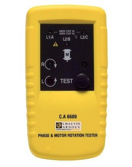 CA6609 - Tester phase rotation and / or motor - Chauvin ArnouxCA6609 - Tester phase rotation and / or motor - Chauvin ArnouxCA66
