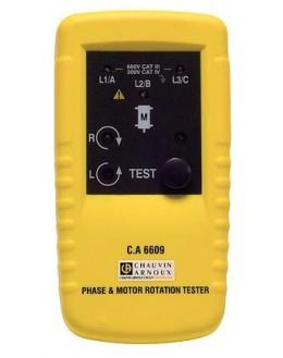 CA6609 - Testeur de rotation de phase et/ou moteur - CHAUVIN ARNOUX