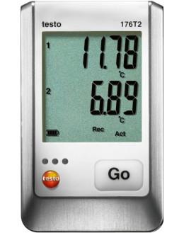 testo 176 T2 Enregistreur de température à 2 canaux avec entrées de sondes externes précises (Pt100)