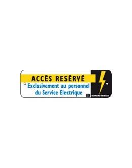 AM-51/2 - Affiche avertissement accès réservé - CATU