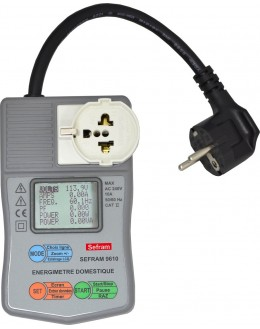 SEFRAM 9610 - Energimètre domestique (10A - 2400W)