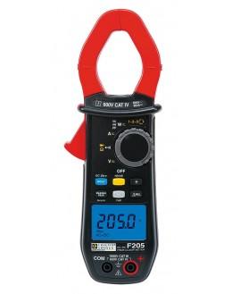 F205 Pince multimètre AC+DC TRMS 600AAC/900ADC