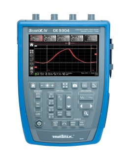 OX7104BCK - Digital oscilloscope 4x100Mhz 2.5 GS / s color screen, ethernet + software + bag - METRIX