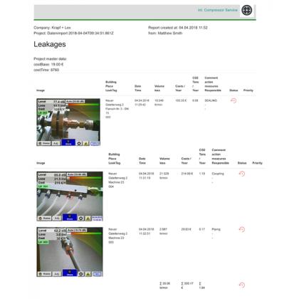CS Leak Reporter - Logiciel d'édition de rapport de fuite - CS INSTRUMENTS