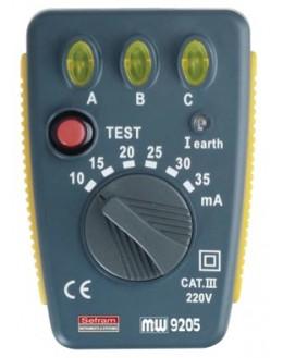 MW9205 - Testeur de disjoncteur différentiel 30mA - SEFRAM