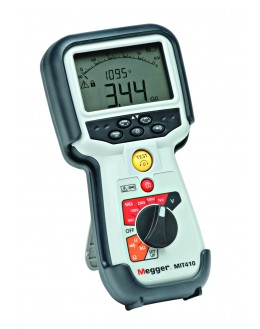 MIT415 - Insulation Tester and Continuity - 10/25/50/100/250/500V-fréq-Volt TRMS - MEGGER