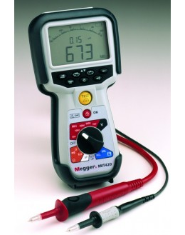 MIT420 - Insulation Tester and Continuity - 50/100/250/500/1000V-fréq-capa-IP-DAR-mémoire - MEGGERMIT420 - Insulation Tester a