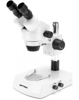 SZM-1 Stéréomicroscope à zoom binoculaire 7x...45x, éclairage halogène incident & transmis - OPTIKA