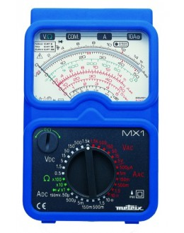 MX1T - Multimètre analogique livré en malette + testeur à leds TX01 - METRIX MX001-T