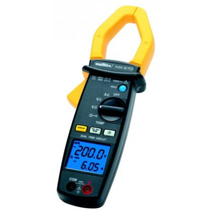 MX670 - Clamp Meter 100A - 1000A Dual Display AC 10000 points - METRIXMX670 - Clamp Meter 100A - 1000A Dual Display AC 10000 poi