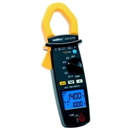 MX675 - Pince multimètre 100-1000-1400A DC 100-1000A AC bi afficheur 10000 points - METRIX