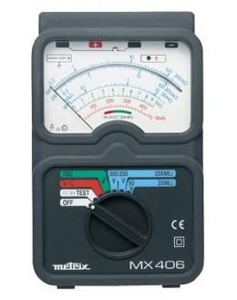 Megohmètre analogique 50-250-500Vdc avec commande par sonde déportée - controleur d'isolement -METRIX - MX406B