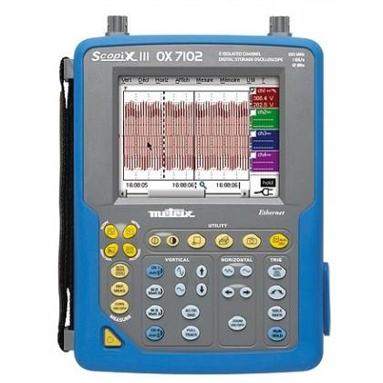 OX7202CSD - Oscilloscope portable 2x200Mhz écran couleur, ethernet - METRIX