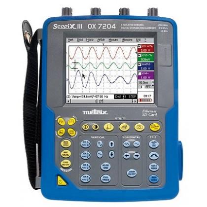 OX7204CSD - Oscilloscope numérique portable 4x200Mhz écran couleur - METRIX
