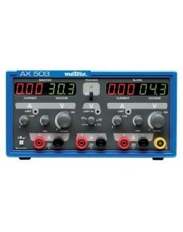 AX503 - Alimentation de laboratoire triple 2x30V 2x2,5A 1x2,7Và5,5V 1x5A - METRIX