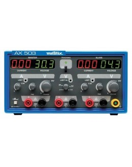 AX503A - Alimentation de laboratoire triple 2x30V 2x2,5A 1x2,7Và5,5V 1x5A - METRIX