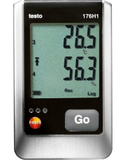 Testo 176 H1 humidity and temperature logger with 4-channel inputs for external probes