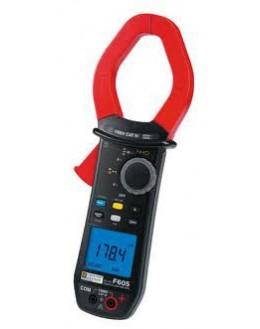 F605 Pince multimètre AC+DC TRMS 2000 AAC/3000 AD