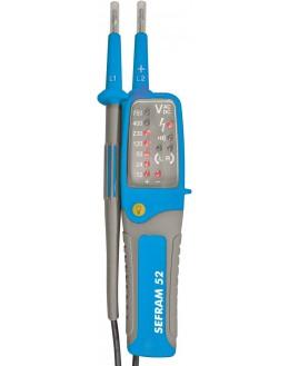SEFRAM 52S avec sacoche - Détecteur de tension (DDT/VAT) à LED IP2X - VAT SEFRAM