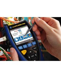 LanXPLORER PRO - Analyseur avec 2 interfaces RJ45 Wifi Optique - IDEAL NETWORKS