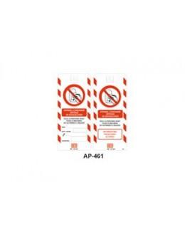 AP-461 - Affichette de condamnation B.T - CATU