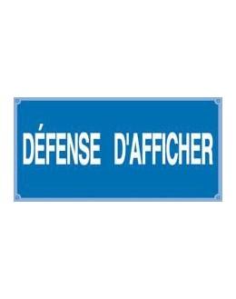 AM-910 - Affiche Défense d'afficher - CATU