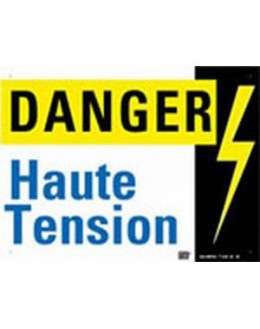 AM-65/1 - Affiche avertissement Danger haute tension - CATU