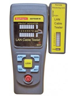 SEFRAM 95 - Testeur de câbles informatiques (RJ-45, RJ-11)