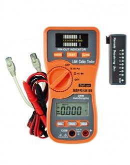 SEFRAM 99 - multimetre et testeur de câbles reseauxSEFRAM 99 - multimetre et testeur de câbles reseauxSEFRAM 99 - multimetre e