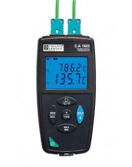 P01654822 - CA1822 - Thermometre de contact 2 voies - CHAUVIN ARNOUX