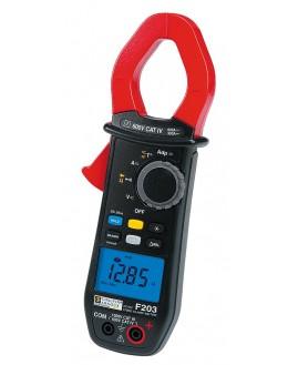 F203 Pince multimètre TRMS 600AAC/900ADC