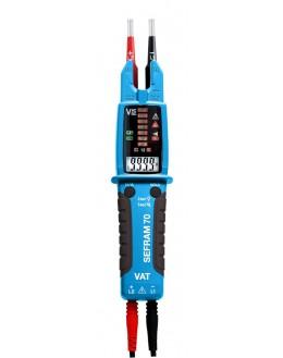 SEFRAM 70 - TESTEUR VAT IP2X multimètre pince ampèremétrique - VAT SEFRAM