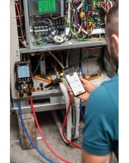 TESTO 557s - Kit Smart Vide avec jeu de flexibles - Manifold électronique intelligent avec sondes de vide et de température