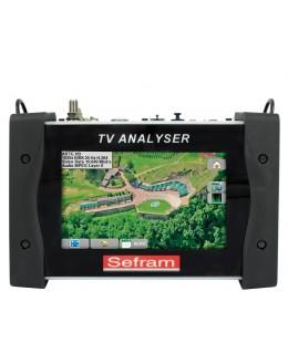 SEFRAM 7859B - Mesureur de champ multifonction terrestre, satellite et câble avec entrée optique, MPEG4 H.264e - SEFRAM