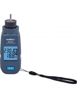 MX531 - Contrôleur de prise de électrique et testeur de terre terre / RCD 30 mA