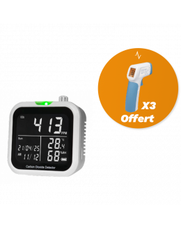 Détecteur de co2 0 À +10 000PPM – Mesure qualité d'air et lutte anti-covid - DISTRIMESURE